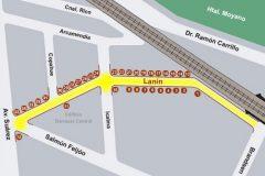 plano Calle Lanín
