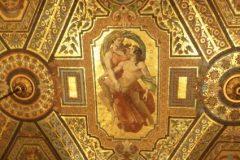 Detalle de la Bóveda del Vestíbulo Avant. Panel que representa a Orfeo y Eurídice, ornamentos realizados por Facchina. Bóveda Vestíbulo de la Opera