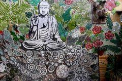 Mosaico Mural Buda -Mariana Tomio - detalle