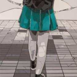 Una Chica con pollera verde – Victoria Carboni